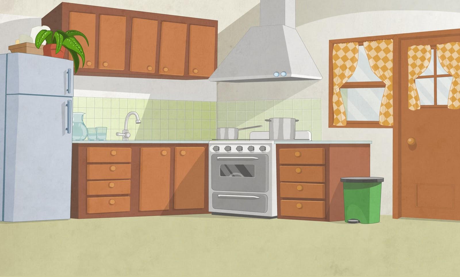 Mansilla ilustraciones fondos for Dibujos de cocina