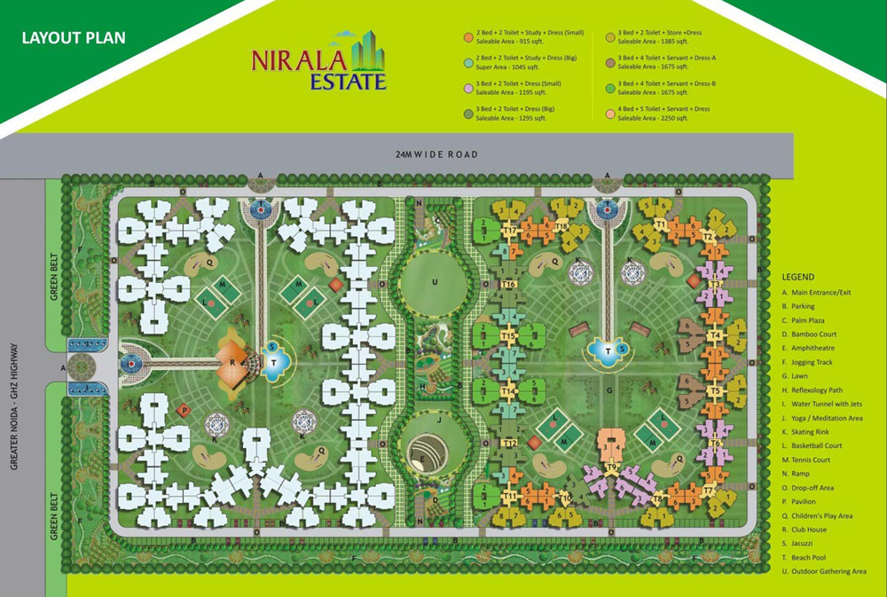 Nirala-Estate-site-plan