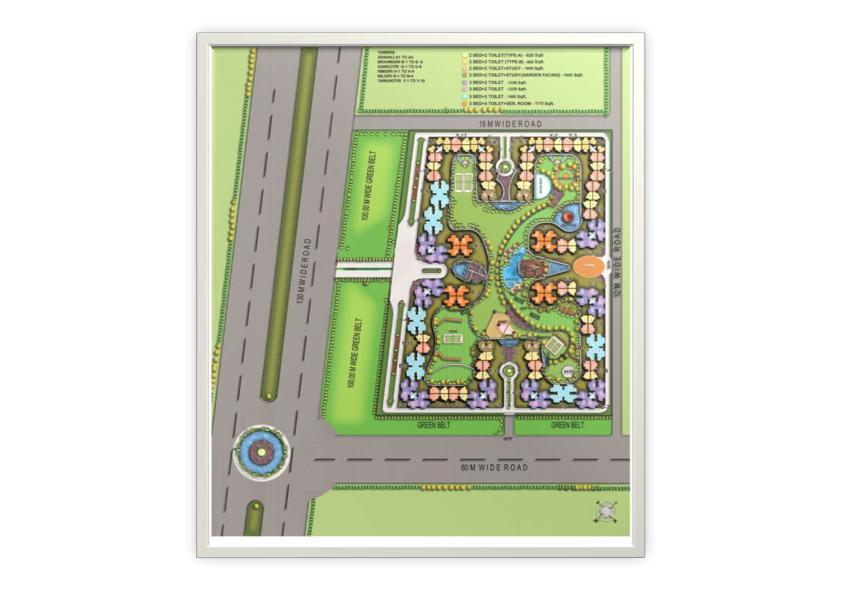 Eros Sampoornam-Site-plan