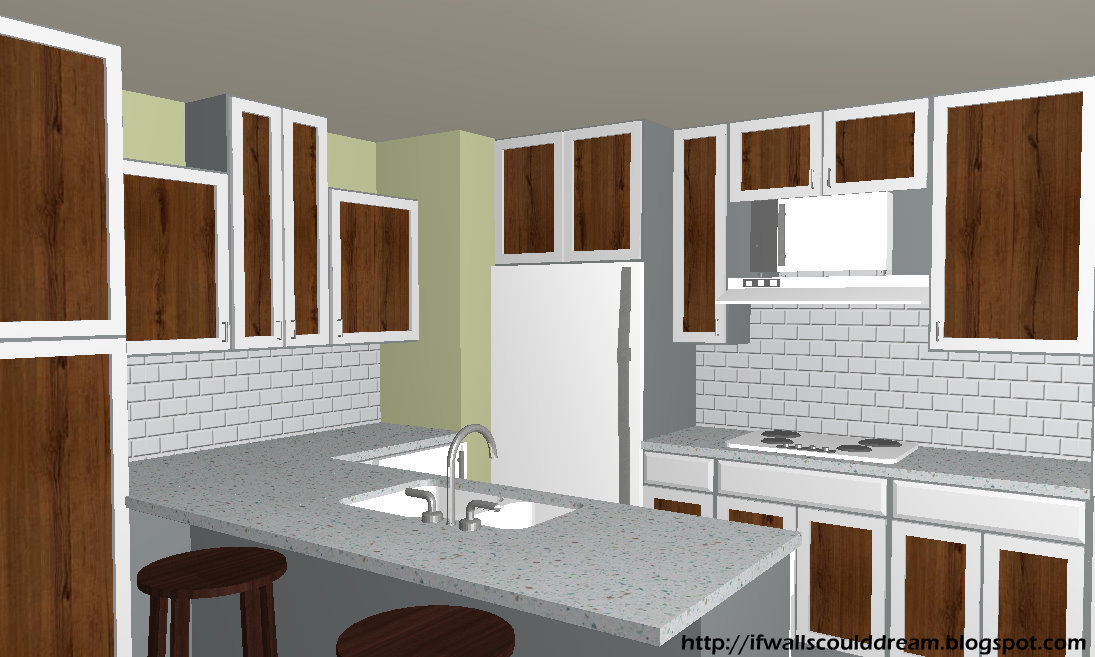 Painted Kitchen Cabinets With Stained Wood Doors Www