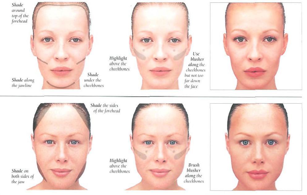 Correcting face shapes smashinbeauty correcting face shapes round heart ccuart Gallery
