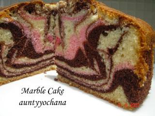 Yochana S Cake Delight Tri Colour Marble Cake