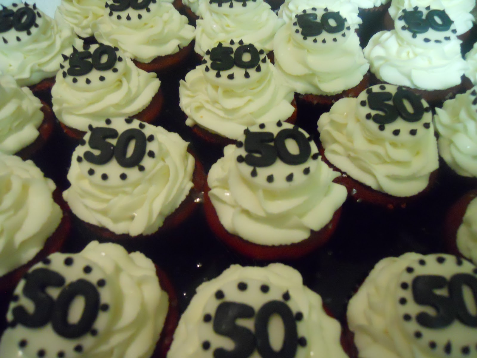Cupcake Decorations For 50th Birthday