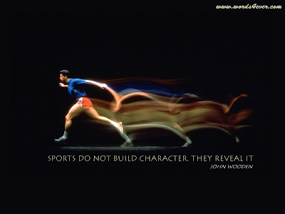 Motivational Wallpaper on Character : Sports do not build character