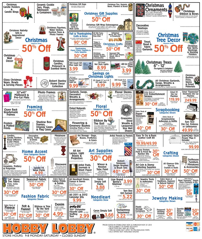 Hobby Lobby Black Friday Sale