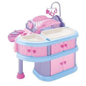 Doll Cradle American Plastic Toy Deluxe Nursery