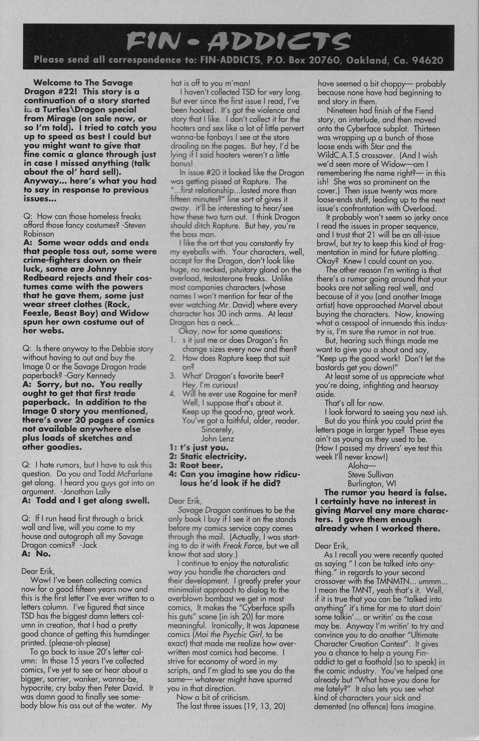 The Savage Dragon (1993) Issue #22 #25 - English 26