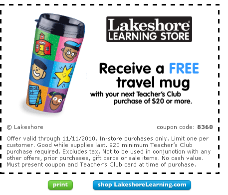 Lakeshore coupon code