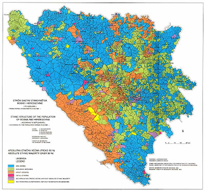 Karta Yugoslavia.Srebrenica Genocide Blog Karadzic Uses Misleading Ethnic Map Of Bosnia
