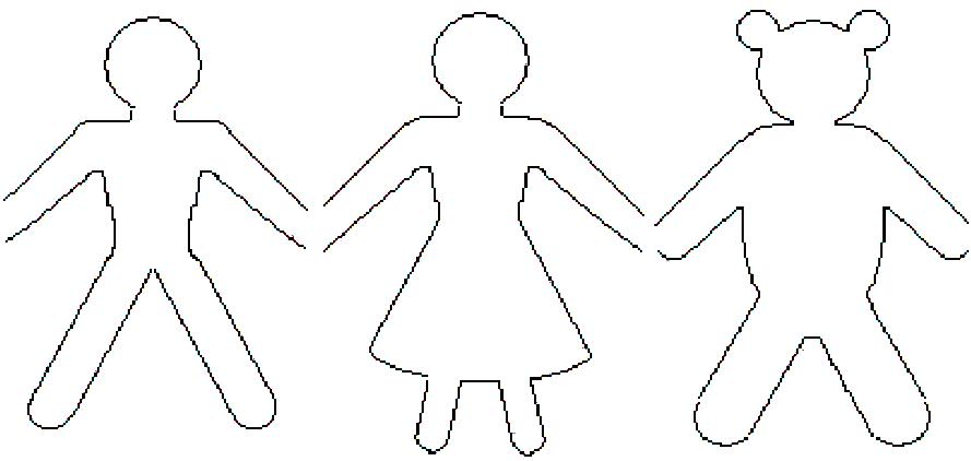 Petit artiste festa em papel dicas para uma festa ursos for Paper doll template woman