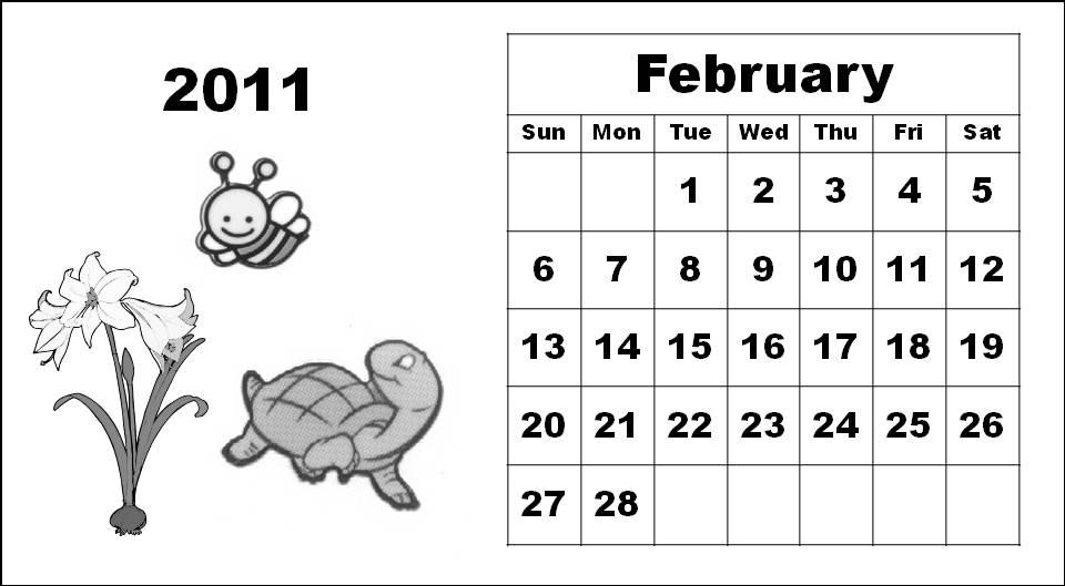 calendar coloring sheets