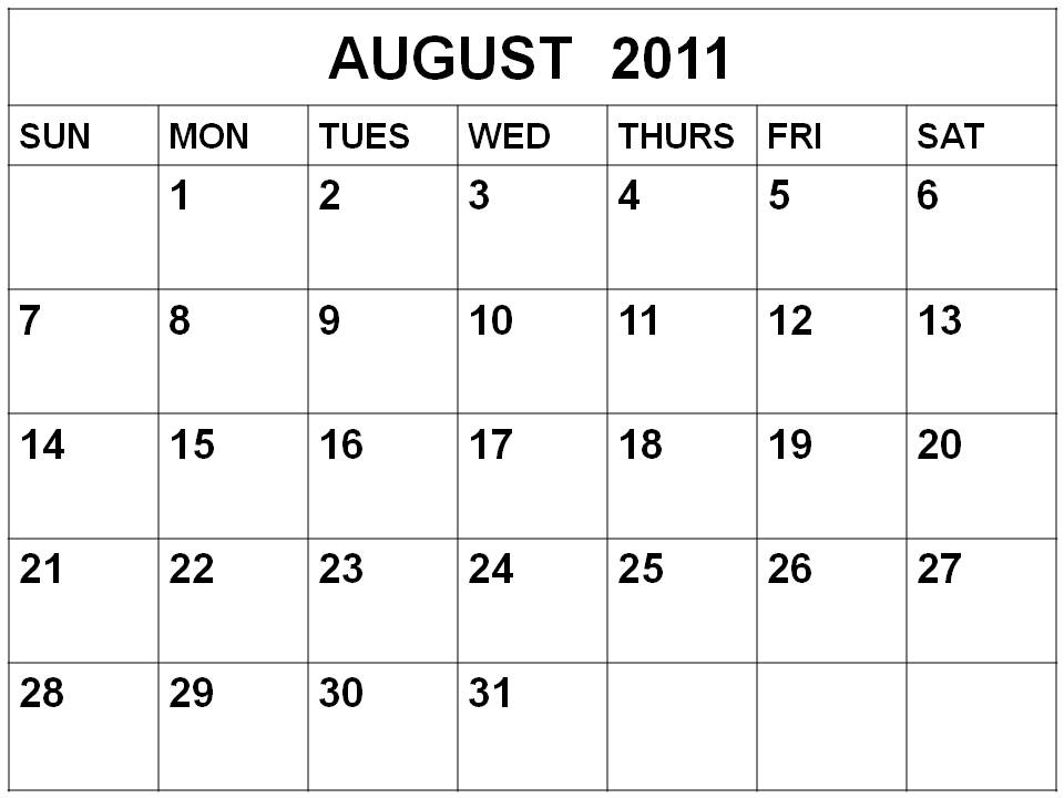 Weekly appointment calendar template 2011.