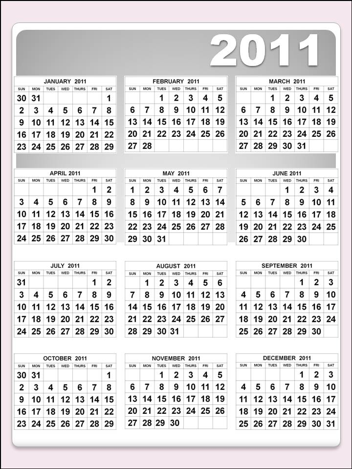 The Symphony of Life: yearly calendar 2011