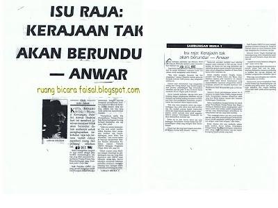 Satu lagi contoh pembodekan Anwar kepada Mahathir, pasti beliau sudah tahu pengajarannya kan?