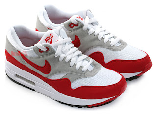 outlet store d48e7 1e9d3 Nike Air Max 1. Original Colorway. White, Sport Red, Neutral Grey, Black.