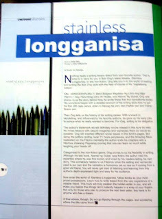 My Online Portfolio: BOOK REVIEW: Stainless Longganisa by