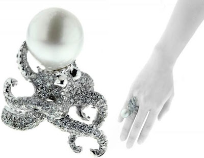 48dc24f72f70 Delfina Delettrez Special Order Octopus and Pearl Ring