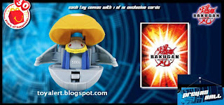 McDonalds Bakugan toys - transforming Bakugan balls - Preyas battle ball and detail of card back