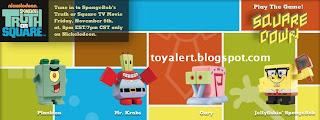 Burger King toys Spongebobs Truth or Square 2009 - Plankton, Mr Krabs, Gary, Jellyfishing Spongebob