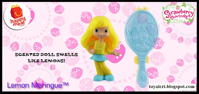 McDonalds Strawberry Shortcake Happy Meal Toy Promotion 2010 - Lemon Meringue with Yellow and Blue Mirror