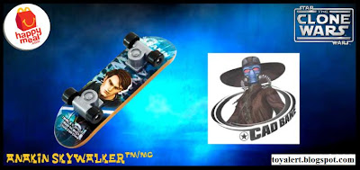 McDonalds Star Wars - The Clone Wars Happy Meal Toys 2010 - Anakin Skywalker Mini Skateboard