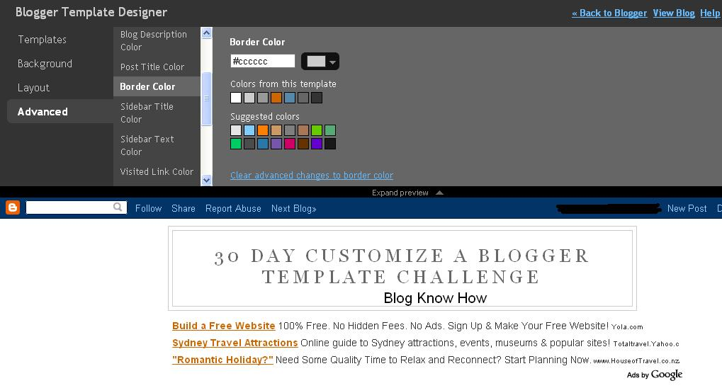 how to change blog name in blogger