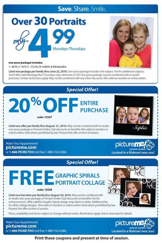 Walmart coupons portrait studio / Babies r us 20 off coupon