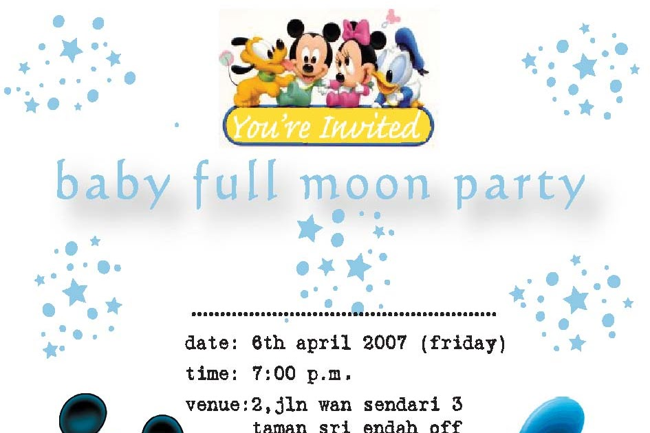 All About Toddler Ho Jinyu S Invitationcard To His Full Moon Party