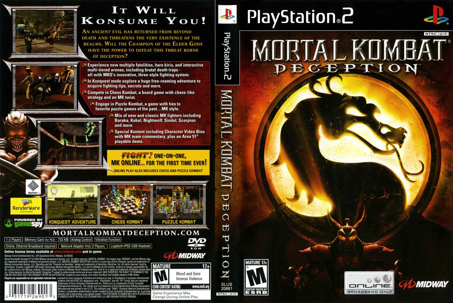 Mortal kombat Ntsc Ps2