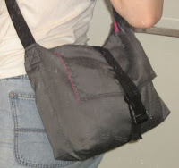 messenger bag with sippered divider