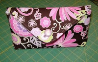 Envelope style makeup bag