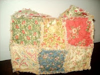 charm pack raggy quilt purse