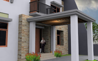 model  kanopi  besi dan beton  www renovrumah com