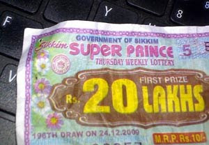 SIKKIM STATE LOTTERIES RESULT: Sikkim State Lottery Result