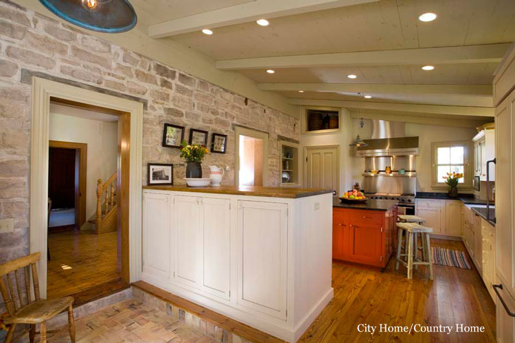 City Home Country Kitchen Reveals At Lake Lure Cottage