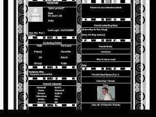 Black Skinny Layout For Myspace 46