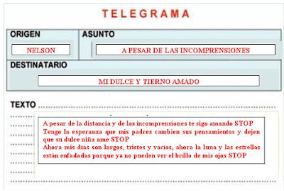 El Movimiento de las Letras TELEGRAMA
