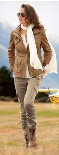 womens tall aviator look and tall leather jacket