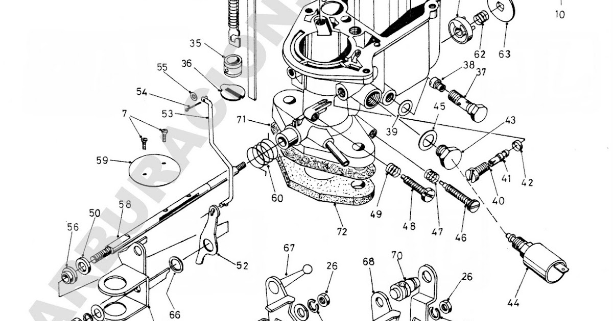 Despieces y reglajes de carburadores Holley, Weber, Solex