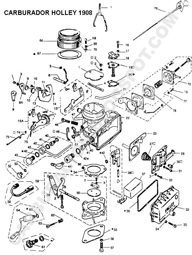 Carburador Cebador Automatico 221 ´83 x