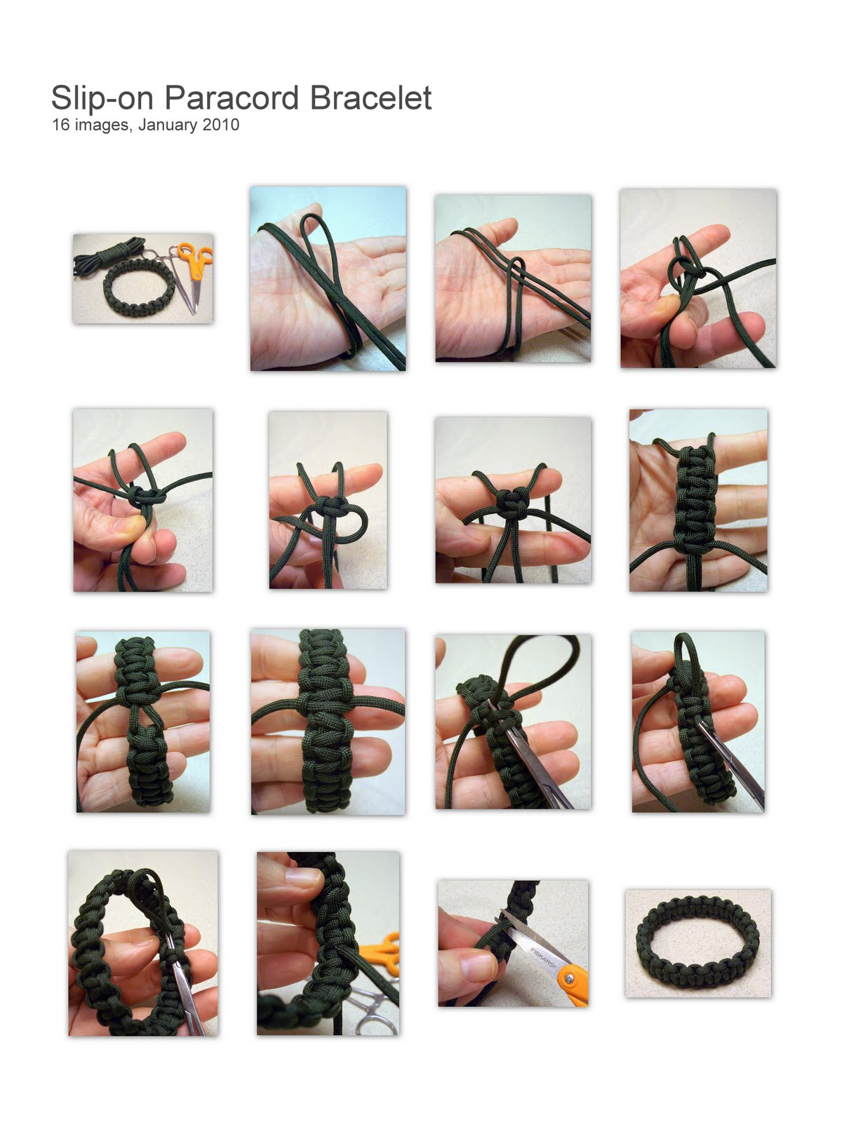 Stormdrane's Blog: Slip-on Paracord Bracelet