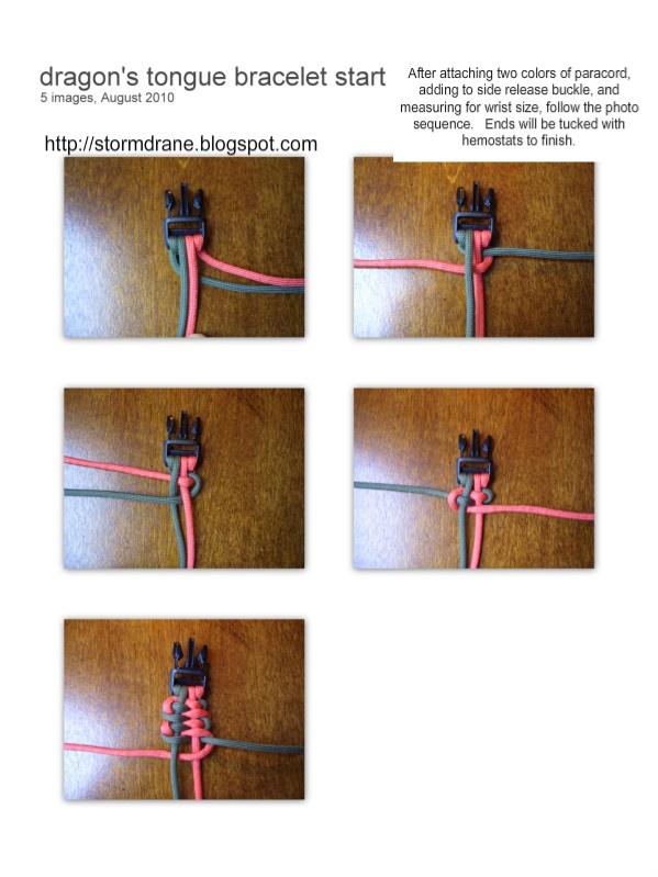 Stormdranes Blog Dragons Tongue Paracord Bracelet