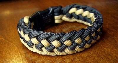 I Used About 9 Feet Of Cord 4 5 Each Tan And Black Paracord In The Finished Bracelet Long To Comfortably Fit An 8 Wrist Adding A
