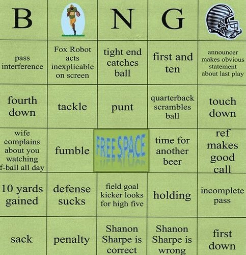 Bummin Cousins Classics - Football is back, Time for Touchdown Bingo!