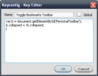 Vic's Blog: Shortcut to Toggle Firefox Bookmarks Toolbar (like Chrome)