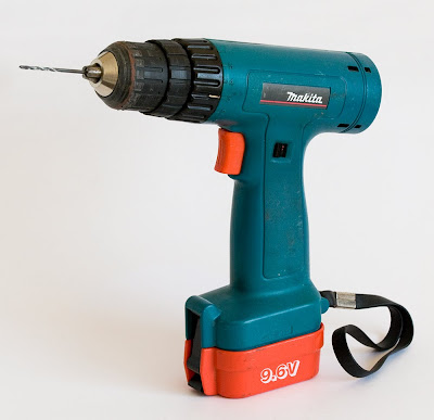 battery operated drill, copyright J. Gracey Stinson