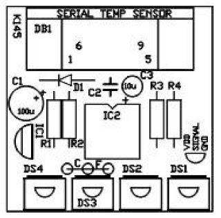 4 Channel Temperature Data Logger on 5 post relay schematic