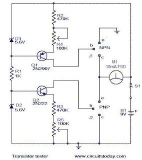 Electronics Technology: Transistor Tester Circuit