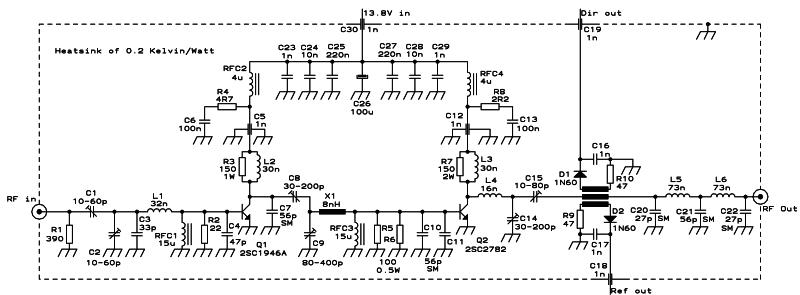 80w rf amplifier 2sc2782 88
