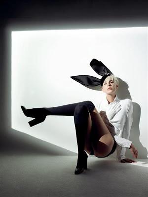 96b78c467fb Agyness Deyn wearing Stephen Jones for Commes des Garcons (Nick Knight   Vogue